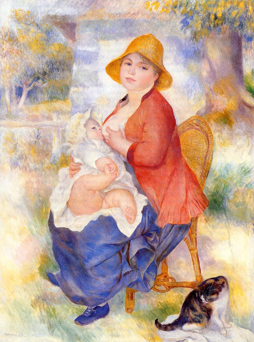 Motherhood (also known as Woman Breast Feeding Her Child), 1886